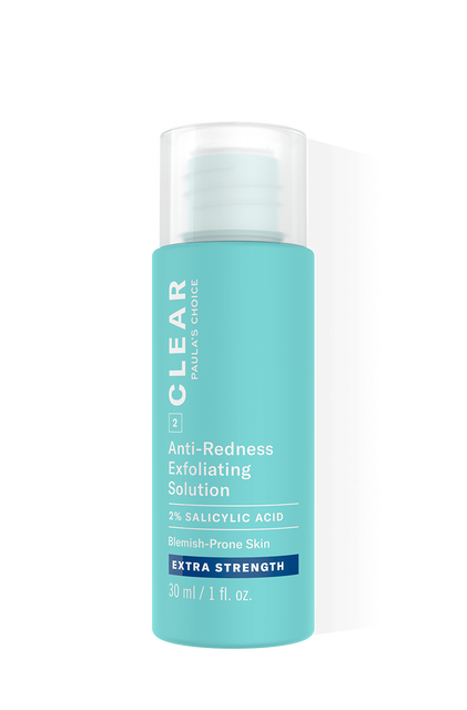 Clear Extra Strength Anti-Redness Exfoliating Solution Salicylic Acid Trial Size