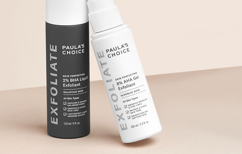 The Difference Between Aha And Bha Exfoliants Paula S Choice